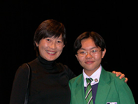 Li Qi and RGS Principal Deborah Tan