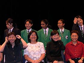 Li Qi with RGS Teachers and Students