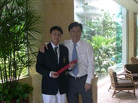 Shing Bo and Mr Allen Peh