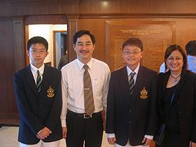 Shing Bo and RI Principal - Mr Wong