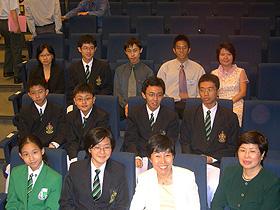 Shing Bo with Nanyang teachers and students